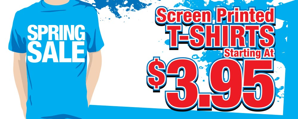 Low cost custom screen printed embroidered apparel